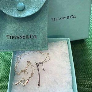 Tiffany & Co Elsa Peretti Necklace ( Letter P )